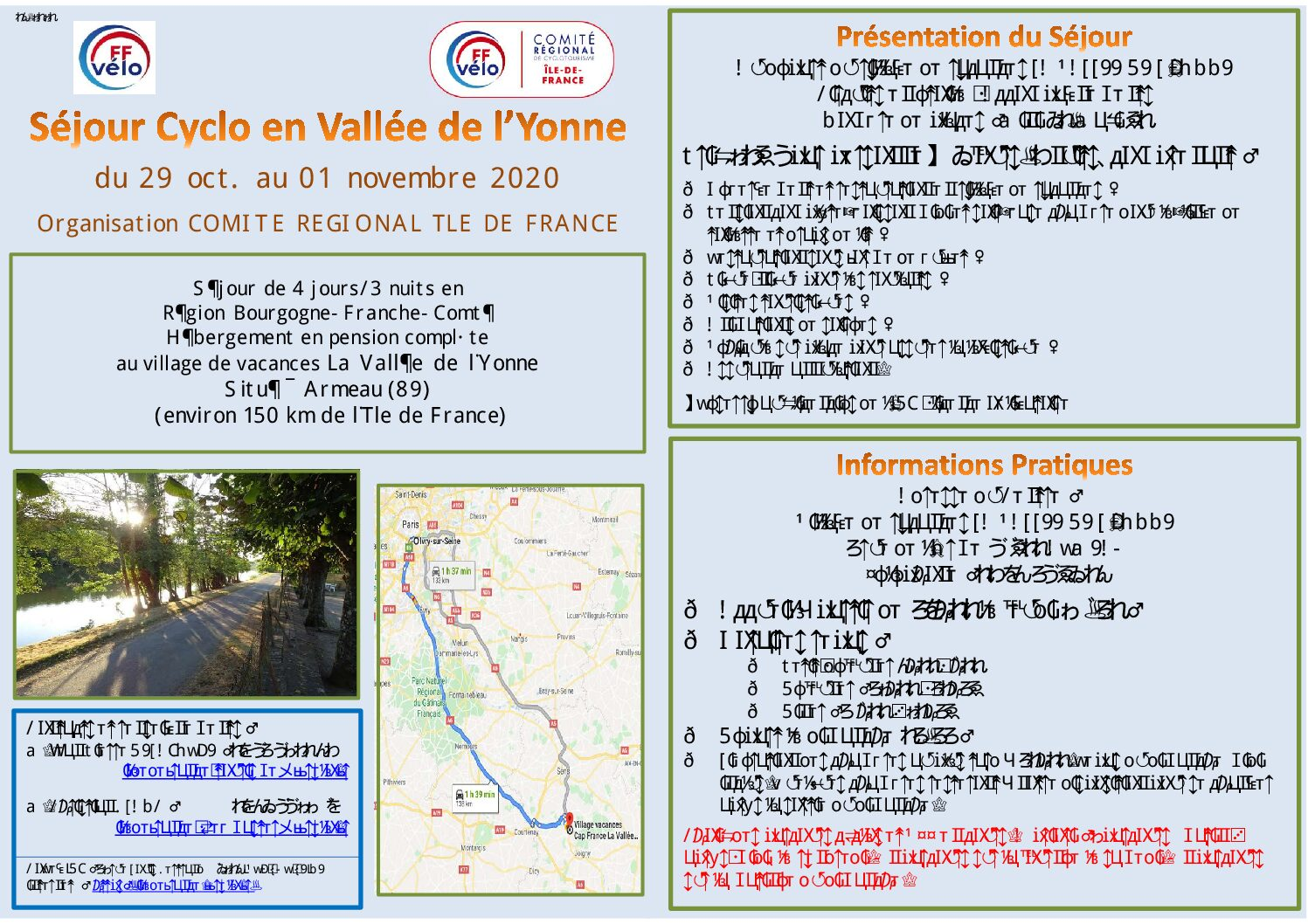 Séjour en Vallée de l'Yonne